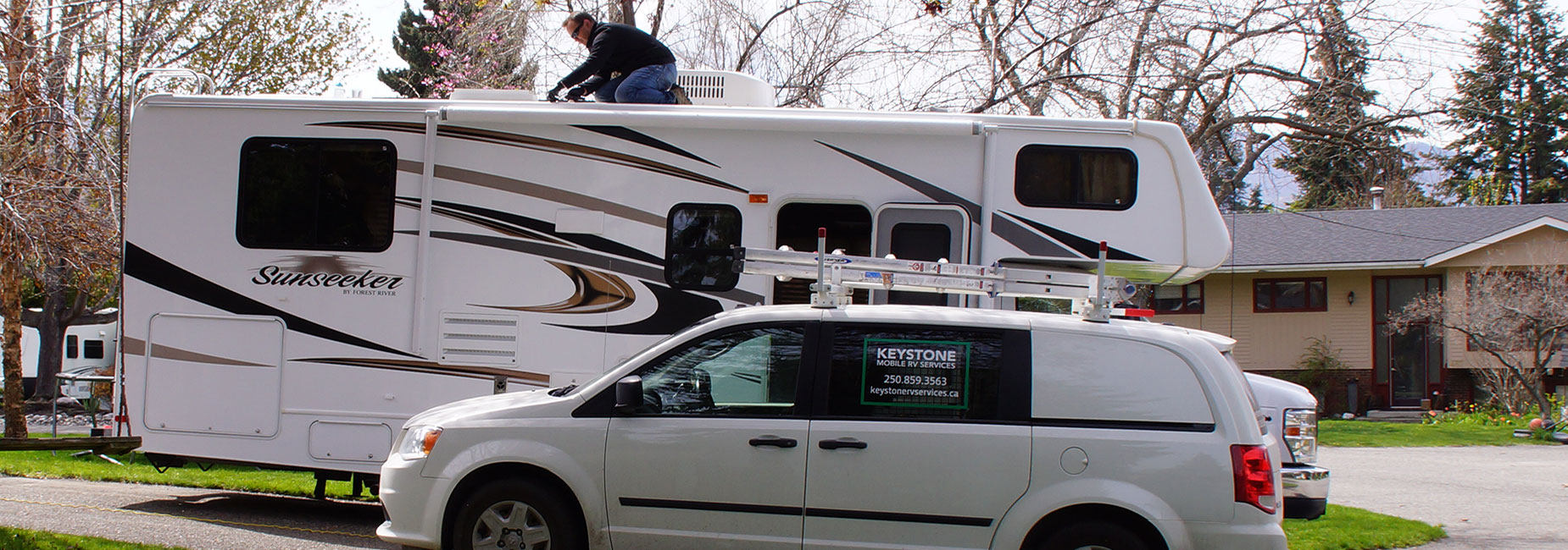 About Keystone RV Services, repairing and servicing all makes and models of RV's in and around the Kelowna area.