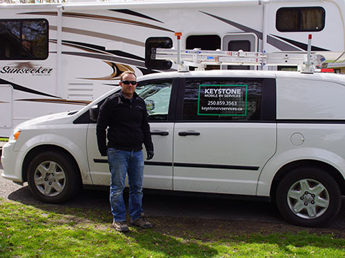 Keystone RV Services in Kelowna offers mobile RV repair services to anyone within our service area.