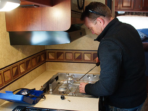Keystone RV Services in Kelowna performs onsite appliance repairs for anyone within our service area.